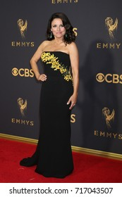 LOS ANGELES - SEP 17:  Julia Louis-Dreyfus at the 69th Primetime Emmy Awards - Arrivals at the Microsoft Theater on September 17, 2017 in Los Angeles, CA