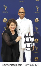 LOS ANGELES - SEP 17:  Margo Martindale, RuPaul at the 2018 Emmy Awards Arrivals at the Microsoft Theater on September 17, 2018 in Los Angeles, CA
