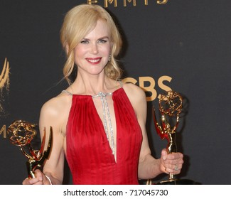 LOS ANGELES - SEP 17:  Nicole Kidman at the 69th Primetime Emmy Awards - Press Room at the JW Marriott Gold Ballroom on September 17, 2017 in Los Angeles, CA