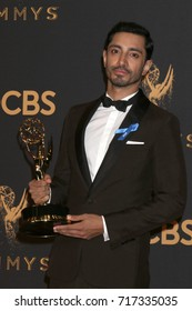 LOS ANGELES - SEP 17:  Riz Ahmed at the 69th Primetime Emmy Awards - Press Room at the JW Marriott Gold Ballroom on September 17, 2017 in Los Angeles, CA