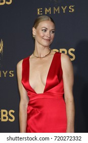 LOS ANGELES - SEP 17:  Yvonne Strahovski at the 69th Primetime Emmy Awards - Arrivals at the Microsoft Theater on September 17, 2017 in Los Angeles, CA