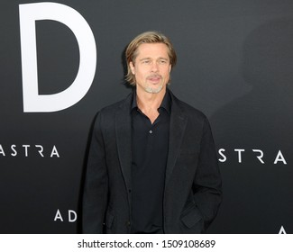 "LOS ANGELES - SEP 18:  Brad Pitt at the ""Ad Astra"" LA Premiere at the Arclight Hollywood on September 18, 2019 in Los Angeles, CA"
