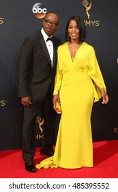LOS ANGELES - SEP 18:  Courtney B. Vance, Angela Bassett at the 2016 Primetime Emmy Awards - Arrivals at the Microsoft Theater on September 18, 2016 in Los Angeles, CA