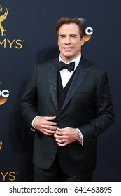 LOS ANGELES - SEP 18:  John Travolta at the 2016 Primetime Emmy Awards - Arrivals at the Microsoft Theater on September 18, 2016 in Los Angeles, CA