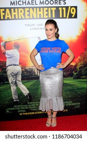 """LOS ANGELES - SEP 19:  Alyssa Milano at the """"Fahrenheit 11/9"""" Los Angeles Premiere at the Samuel Goldwyn Theater at AMPAS on September 19, 2018 in Beverly Hills, CA"""