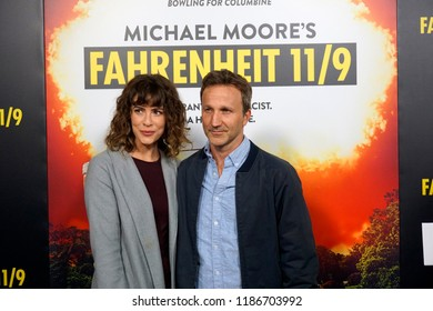 "LOS ANGELES - SEP 19:  Deborah Kaplan, Breckin Meyer at the ""Fahrenheit 11/9"" Los Angeles Premiere at the Samuel Goldwyn Theater at AMPAS on September 19, 2018 in Beverly Hills, CA"