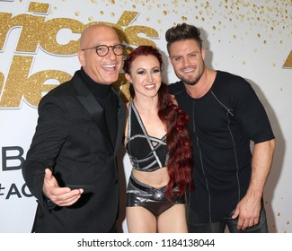 "LOS ANGELES - SEP 19:  Howie Mandel, Duo Transcend at the ""America's Got Talent"" Crowns Winner Red Carpet at the Dolby Theater on September 19, 2018 in Los Angeles, CA"