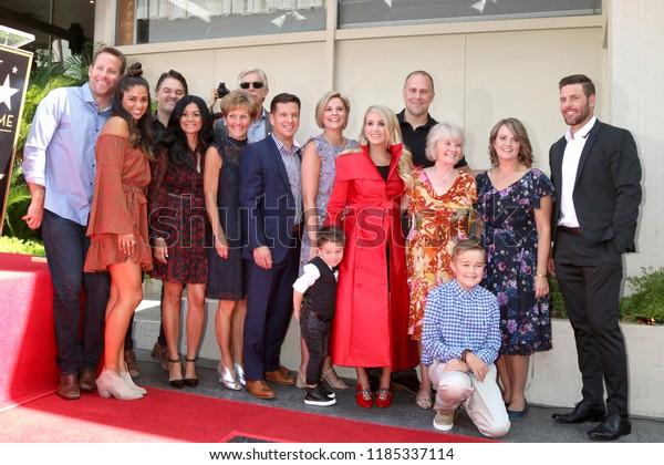 Los Angeles Sep 20 Carrie Underwood Stock Photo Edit Now 1185337114