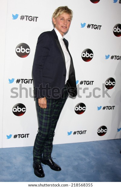 LOS ANGELES - SEP 20:  Ellen DeGeneres at the TGIT Premiere Event for Grey's Anatomy, Scandal, How to Get Away With Murder at Palihouse on September 20, 2014 in West Hollywood, CA