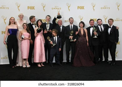 LOS ANGELES - SEP 20:  Game of Thrones Cast and Producers at the Primetime Emmy Awards Press Room at the Microsoft Theater on September 20, 2015 in Los Angeles, CA