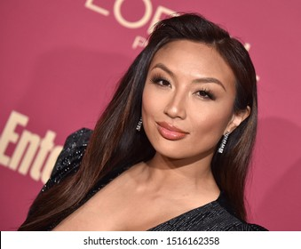 LOS ANGELES - SEP 20:  Jeannie Mai arrives for the Entertainment Weekly Pre Emmy Party on September 20, 2019 in West Hollywood, CA