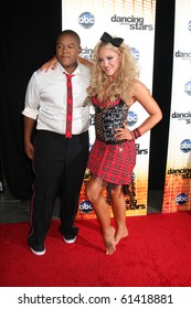 LOS ANGELES - SEP 20:  Kyle Massey, Lacey Schwimmer at the Season 11 Premiere of Dancing with the Stars at CBS Television CIty  on September 20, 2010 in Los Angeles, CA