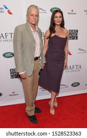 LOS ANGELES - SEP 21:  Michael Douglas and Catherine Zeta-Jones arrives to the BAFTA Los Angeles and BBC America TV Tea Party  on September 21, 2019 in Hollywood, CA