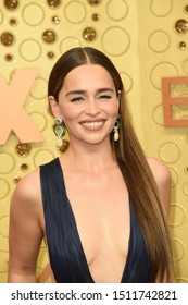 LOS ANGELES - SEP 22:  Emilia Clarke at the Primetime Emmy Awards - Arrivals at the Microsoft Theater on September 22, 2019 in Los Angeles, CA