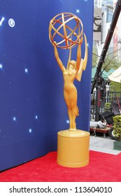 LOS ANGELES - SEP 22:  Emmy Statue during Preparations for the Emmy awards  on September 22, 2012 in Los Angeles, CA