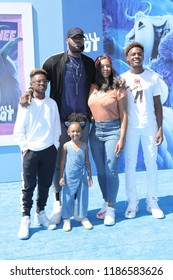 "LOS ANGELES - SEP 22:  LeBron James, Family at the ""Small Foot"" Premiere at the Village Theater on September 22, 2018 in Westwood, CA"