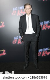 "LOS ANGELES - SEP 22:  Lewis Pullman at the ""Bad Times at the El Royale"" Global Premiere at the TCL Chinese Theater IMAX on September 22, 2018 in Los Angeles, CA"