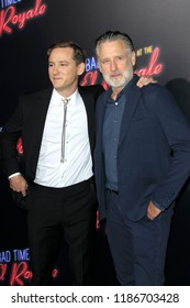 "LOS ANGELES - SEP 22:  Lewis Pullman, Bill Pullman at the ""Bad Times at the El Royale"" Global Premiere at the TCL Chinese Theater IMAX on September 22, 2018 in Los Angeles, CA"