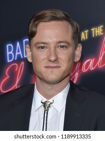 "LOS ANGELES - SEP 22:  Lewis Pullman arrives to the ""Bad Times at the El Royale"" Global Premiere  on September 22, 2018 in Hollywood, CA"