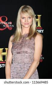 """LOS ANGELES - SEP 22:  Lindsay Pulsipher arrives at the """"HATFIELDS & McCOYS"""" Pre-Emmy Party. at SOHO Club on September 22, 2012 in West Hollywood, CA"""