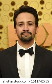 LOS ANGELES - SEP 22:  Lin-Manuel Miranda at the Primetime Emmy Awards - Arrivals at the Microsoft Theater on September 22, 2019 in Los Angeles, CA
