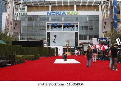 LOS ANGELES - SEP 22:  Preparations for the Emmy awards  on September 22, 2012 in Los Angeles, CA