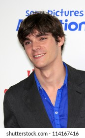 """LOS ANGELES - SEP 22:  RJ Mitte arrives at the """"Hotel Transylvania"""" Screening at Pacific Theaters at The Grove on September 22, 2012 in Los Angeles, CA"""