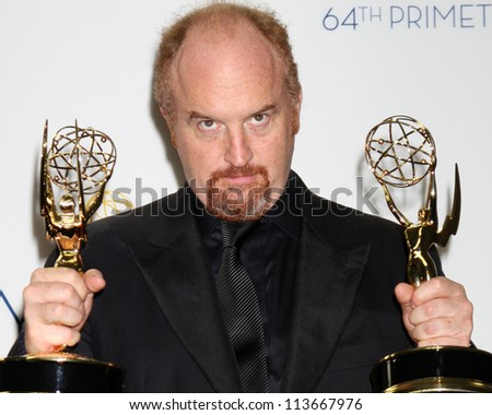 LOS ANGELES - SEP 23:  Louis Szekely, aka Lewis C.K. in the press room of the 2012 Emmy Awards at Nokia Theater on September 23, 2012 in Los Angeles, CA