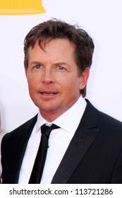LOS ANGELES - SEP 23:  Michael J Fox arrives at the 2012 Emmy Awards at Nokia Theater on September 23, 2012 in Los Angeles, CA