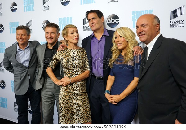 """LOS ANGELES - SEP 23:  Sharks at the """"Shark Tank"""" Season 8 Premiere at Viceroy L'Ermitage Beverly Hills on September 23, 2016 in Beverly Hills, CA"""