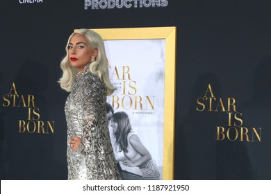 "LOS ANGELES - SEP 24:  Lady Gaga at the ""A Star is Born"" LA Premiere at the Shrine Auditorium on September 24, 2018 in Los Angeles, CA"
