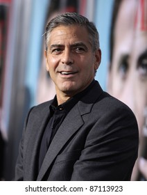 """LOS ANGELES - SEP 27:  George Clooney arrives to the """"The Ides of March"""" Los Angeles Premiere  on September 27,2011 in Beverly Hills, CA"""