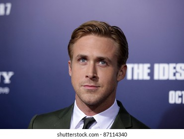 """LOS ANGELES - SEP 27:  Ryan Gosling arrives to the """"The Ides of March"""" Los Angeles Premiere  on September 27,2011 in Beverly Hills, CA"""