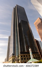 LOS ANGELES - SEP 28, 2015: Skyscraper of the Downtown of Los Angeles, California, the central business district
