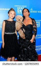 LOS ANGELES - SEP 29:  Ruby Heath, Dog Willow, Heather Heath at the  2018 American Humane Hero Dog Awards at the Beverly Hilton Hotel on September 29, 2018 in Beverly Hills, CA