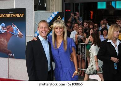 """LOS ANGELES - SEP 30:  Jordan Hightower (Brother), Chelsie Hightower arrives at the """"Secretariat"""" Premiere at El Capitan Theater on September 30, 2010 in Los Angeles, CA"""