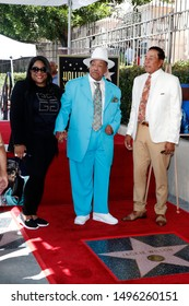 LOS ANGELES - SEP 4:  Guest, Marshall Thompson, Smokey Robinson at the Jackie Wilson Star Ceremony on the Hollywood Walk of Fame on September 4, 2019 in Los Angeles, CA