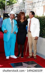 LOS ANGELES - SEP 4:  Marshall Thompson, Mary Wilson, Smokey Robinson at the Jackie Wilson Star Ceremony on the Hollywood Walk of Fame on September 4, 2019 in Los Angeles, CA