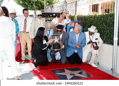 LOS ANGELES - SEP 4:  Marshall Thompson, Smokey Robinson, Mary Wilson, Berry Gordy, John Wilson at the Jackie Wilson Star Ceremony on the Hollywood Walk of Fame on September 4, 2019 in Los Angeles, CA