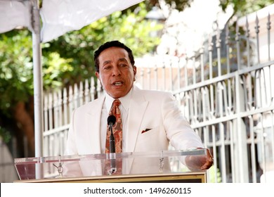 LOS ANGELES - SEP 4:  Smokey Robinson at the Jackie Wilson Star Ceremony on the Hollywood Walk of Fame on September 4, 2019 in Los Angeles, CA