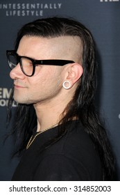 "LOS ANGELES - SEP 8:  Skrillex at the ""Jeremy Scott: The People's Designer"" World Premiere at the TCL Chinese Theater on September 8, 2015 in Los Angeles, CA"