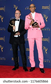 LOS ANGELES - SEP 9:  Nick Murray, RuPaul Andre Charles at the 2018 Creative Arts Emmy Awards - Day 2 - Press Room at the Microsoft Theater on September 9, 2018 in Los Angeles, CA