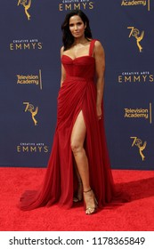 LOS ANGELES - SEP 9:  Padma Lakshmi at the 2018 Creative Arts Emmy Awards - Day 2 - Arrivals at the Microsoft Theater on September 9, 2018 in Los Angeles, CA