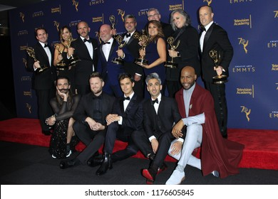 LOS ANGELES - SEP 9:  Queer Eye, cast, crew at the 2018 Creative Arts Emmy Awards - Day 2 - Press Room at the Microsoft Theater on September 9, 2018 in Los Angeles, CA