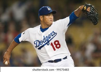 LOS ANGELES - SEPT 22  Los Angeles Dodgers starting pitcher Hiroki Kuroda   18 during d18ce3c82fb