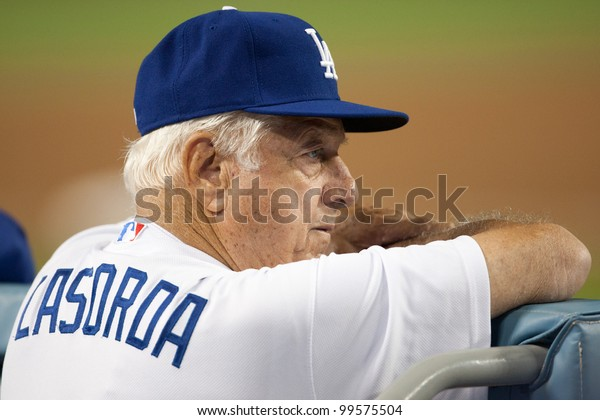 LOS ANGELES - SEPT 22: Former Los Angeles Dodgers manager Tommy Lasorda during the Major League Baseball game on Sept 22, 2011 at Dodger Stadium in Los Angeles, CA