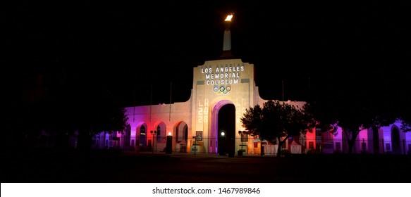 Los Angeles - September 13, 2017: Memorial Coliseum at USC
