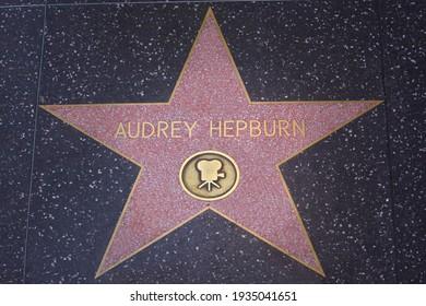 Los Angeles - September 8, 2019 Audrey Hepburn's star on the Hollywood Walk of Fame