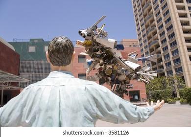 Los Angeles Sky Scrapers Museum Courtyard
