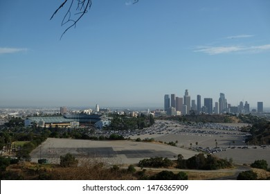 Los Angeles Skyline with Dodger's Stadium during the Daytime